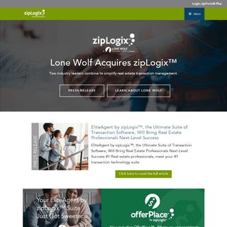 zipLogix™ - Real Estate Transaction Management - Home