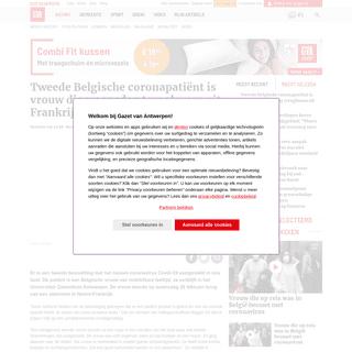 ArchiveBay.com - www.gva.be/cnt/dmf20200301_04870846/tweede-besmetting-met-coronavirus-in-belgie - Tweede Belgische coronapatiënt is vrouw die woensdag terugkw... - Gazet van Antwerpen