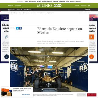 Fórmula E quiere seguir en México
