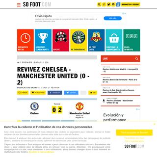 Revivez Chelsea - Manchester United (0 - 2) - Premier League - J26 - SOFOOT.com