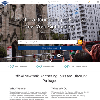 NYC Bus Tours - New York Sightseeing Tours - Gray Line New York