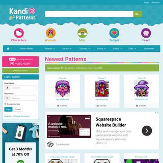 Crumpet's Kandi Patterns - Pony Bead Patterns for Kandi Cuffs - Perler Bead Patterns