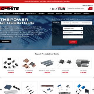 Industrial Power Resistors & Surface Mount Power Resistor Manufacturer - Ohmite Mfg Co