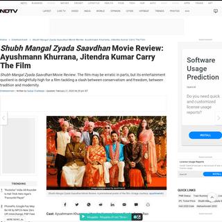 ArchiveBay.com - www.ndtv.com/entertainment/shubh-mangal-zyada-saavdhan-movie-review-ayushmann-khurrana-jitendra-kumar-carry-the-film-2-5-stars-2183647 - Shubh Mangal Zyada Saavdhan Movie Review- Ayushmann Khurrana, Jitendra Kumar Carry The Film - 2.5 Stars (Out Of 5)