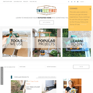 TwoFeetFirst - Home and DIY projects to makeover your home into something you can LOVE!