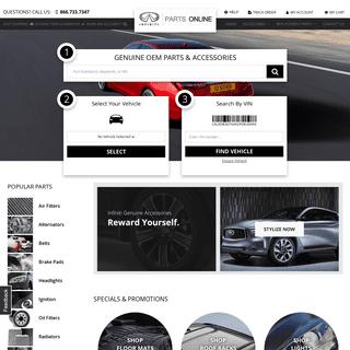 Infiniti® Parts Online - InfinitiPartsOnline.com - Infiniti Parts Online