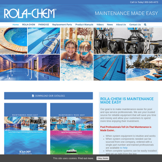 Rola-Chem & Paradise Industries Offers Quality Pool & Spa Products