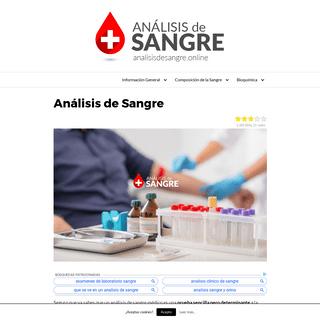 Análisis de Sangre - Qué es y Cómo Interpretar los Resultados【2018】