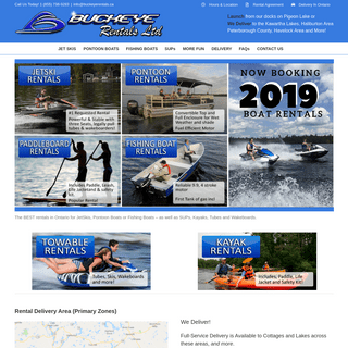 Buckeye Boat Rentals in Kawartha Lakes, Haliburton and Peterborough – Ontario, Canada – Boat and Jetski Rentals in the Kawar