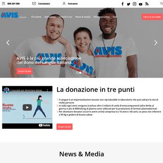 AVIS, Associazione Volontari Italiani del Sangue -