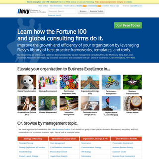 Best Practice Business Strategy Frameworks, PowerPoint Templates, Financial Models at Flevy.com
