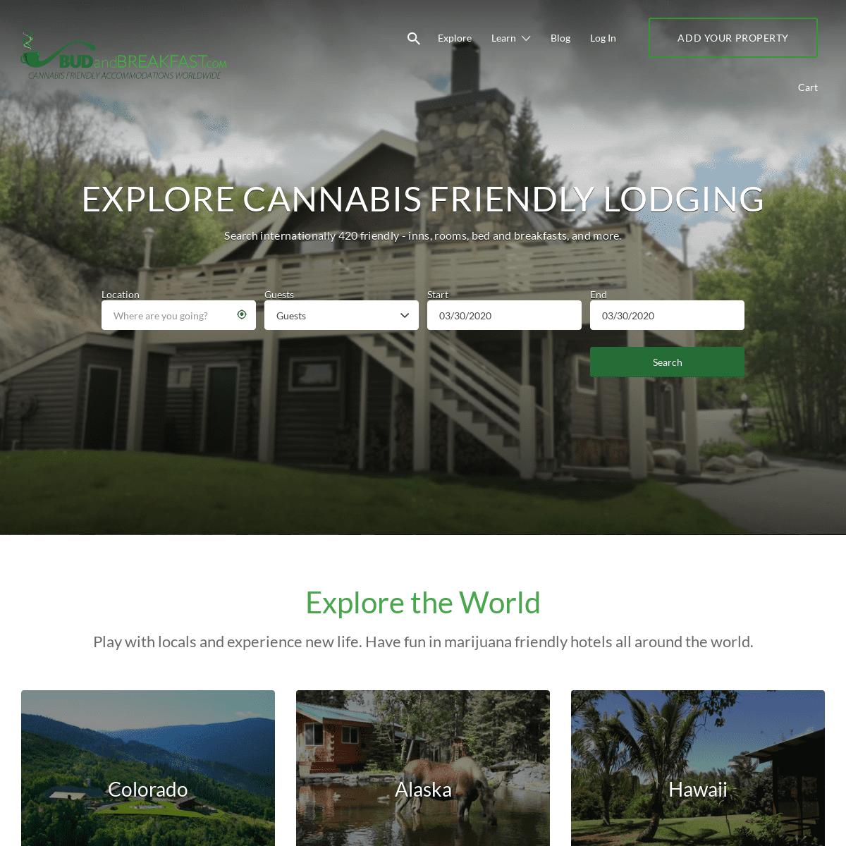 Bud and Breakfast - Marijuana Friendly Hotels - 420 Friendly Rentals