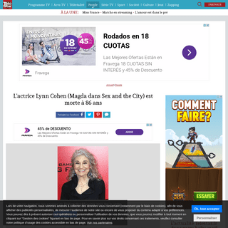 ArchiveBay.com - www.telestar.fr/people/l-actrice-lynn-cohen-magda-dans-sex-and-the-city-est-morte-a-86-ans-492228 - L'actrice Lynn Cohen (Magda dans Sex and the City) est morte à 86 ans - Télé Star