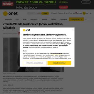 ArchiveBay.com - www.fakt.pl/kobieta/plotki/nie-zyje-wokalistka-alibabek-wanda-narkiewicz-jodko/v180t2r - Onet – Jesteś na bieżąco