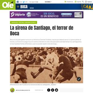 La sirena de Santiago, el terror de Boca - Olé