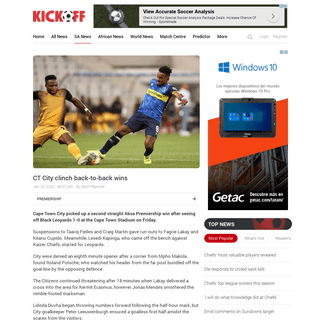 Absa Premiership match report Cape Town City v Black Leopards 24