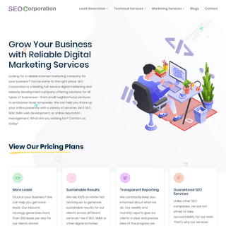 SEO Corporation - SEO and Digital Marketing Company, Web Design and Development