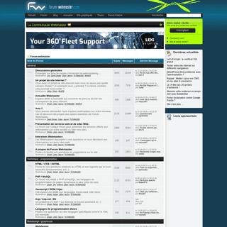 Forum Webmaster - communauté de webmasters pour la création de site internet