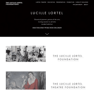 The Lucille Lortel Foundations
