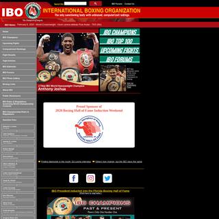 IBO - International Boxing Organization