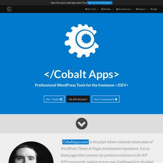 Cobalt Apps - Premium Tools For The Freelance WordPress Developer