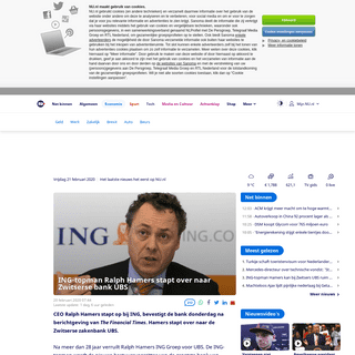 ING-topman Ralph Hamers stapt over naar Zwitserse bank UBS - NU - Het laatste nieuws het eerst op NU.nl