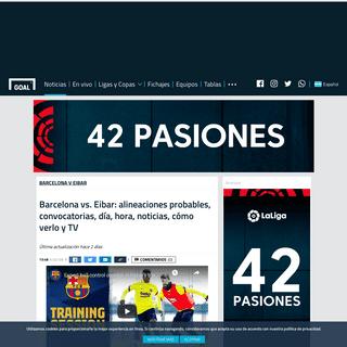 ArchiveBay.com - www.goal.com/es-ar/noticias/barcelona-vs-eibar-alineaciones-probables-convocatorias-dia-hora-/ifnayn1j4gy118visueyolqdh - Barcelona vs. Eibar- alineaciones probables, convocatorias, día, hora, noticias, cómo verlo y TV - Goal.com