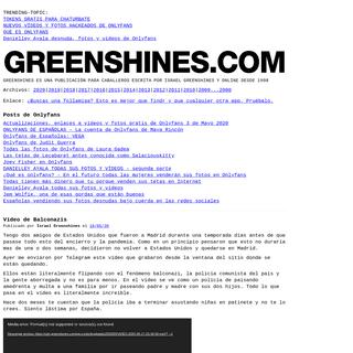 Greenshines - fotos y vídeos de Onlyfans gratis