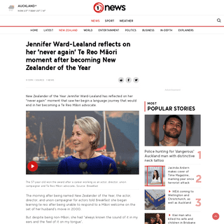 Jennifer Ward-Lealand reflects on her 'never again' Te Reo Māori moment after becoming New Zealander of the Year - 1 NEWS - TVN