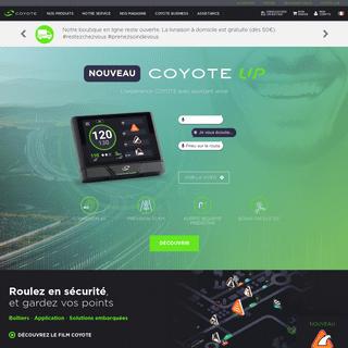 L'assistant d'aide à la conduite et application GPS Coyote - Coyote