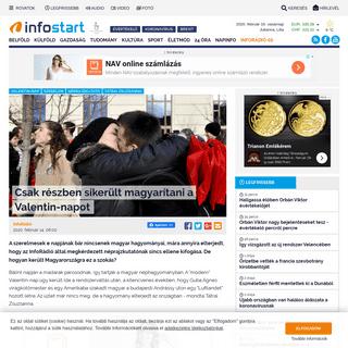 Csak részben sikerült magyarítani a Valentin-napot - Infostart.hu