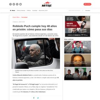 Robledo Puch cumple hoy 48 años en prisión- cómo pasa sus días - Radio Mitre