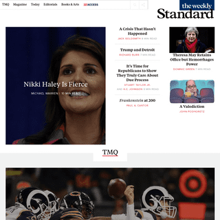 The Weekly Standard - A Weekly Conservative Magazine and Blog of News and Opinion