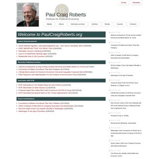 Paul Craig Roberts - Official Homepage
