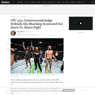 ArchiveBay.com - www.forbes.com/sites/brianmazique/2020/02/09/ufc-247-controversial-judge-defends-his-shocking-scorecard-for-jones-vs-reyes-fight/ - UFC 247- Controversial Judge Defends His Shocking Scorecard For Jones Vs. Reyes Fight