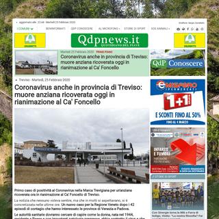 ArchiveBay.com - www.qdpnews.it/treviso/34209-coronavirus-anche-a-treviso-ricoverata-in-rianimazione-al-ca-foncello-donna-con-patologie-pregresse - Coronavirus anche in provincia di Treviso- muore anziana ricoverata oggi in rianimazione al Ca' Foncello