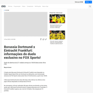 ArchiveBay.com - www.foxsports.com.br/br/article/borussia-dortmund-x-eintracht-frankfurt-informacoes-do-duelo-exclusivo-no-fox-sports_t4juto - Borussia Dortmund x Eintracht Frankfurt- informações do duelo exclusivo no FOX Sports! - Duelo de abertura da 22° rodada come