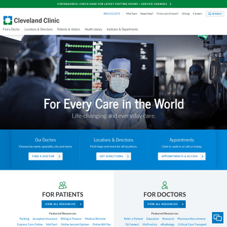 Cleveland Clinic- Every Life Deserves World Class Care