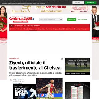 Ziyech, ufficiale il trasferimento al Chelsea - Corriere dello Sport
