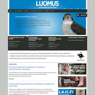 Etusivu - LUOMUS