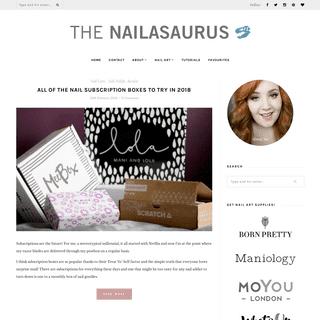 The Nailasaurus - UK Nail Art Blog - Nail art with bite