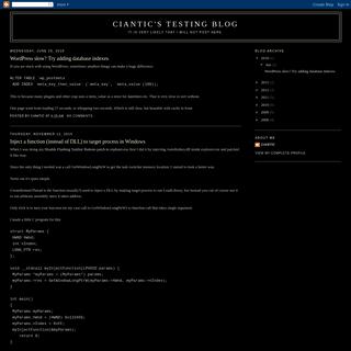 Ciantic's testing blog