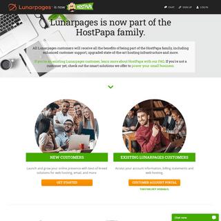 Lunarpages is now HostPapa - Web Hosting, email & domains