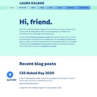 Laura Kalbag – Home