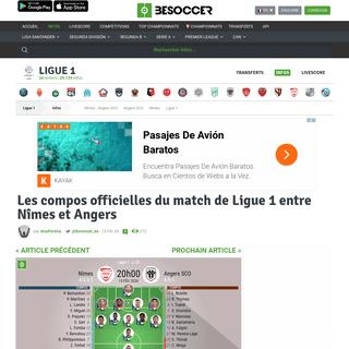 ArchiveBay.com - fr.besoccer.com/info/les-compos-officielles-du-match-de-ligue-1-entre-nimes-et-angers-794075 - Les compos officielles du match de Ligue 1 entre Nîmes et Angers - BeSoccer