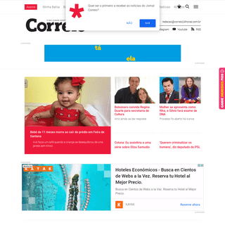 Jornal CORREIO - Notícias e opiniões que a Bahia quer saber - Capa