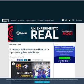 El resumen del Barcelona 5-0 Eibar, de La Liga- vídeo, goles y estadísticas - Goal.com