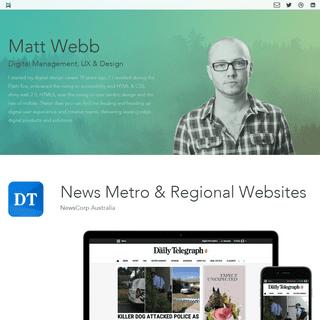 ArchiveBay.com - mattwebb.com.au - Matt Webb - Digital Management, UX & Design