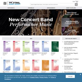 Digital Sheet Music - View Online - Print On-Demand - Total Sheet Music