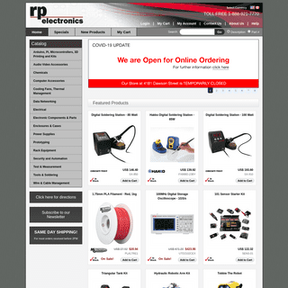 RP Electronics - Test Instruments , Power Supplies , Inverters , Electronic Project Kits and more!